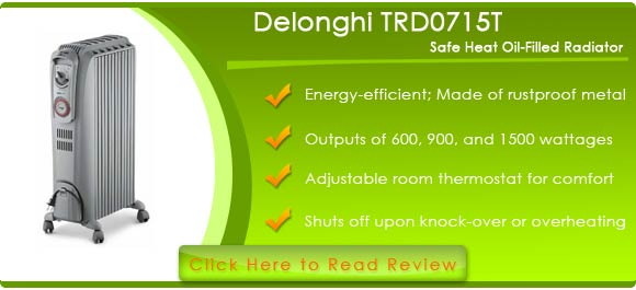 Delonghi TRD0715T Safe Heat Oil-Filled Radiator